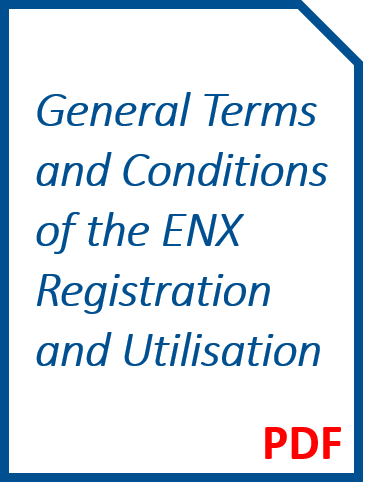 General Terms and Conditions of the ENX Registration and Utilisation